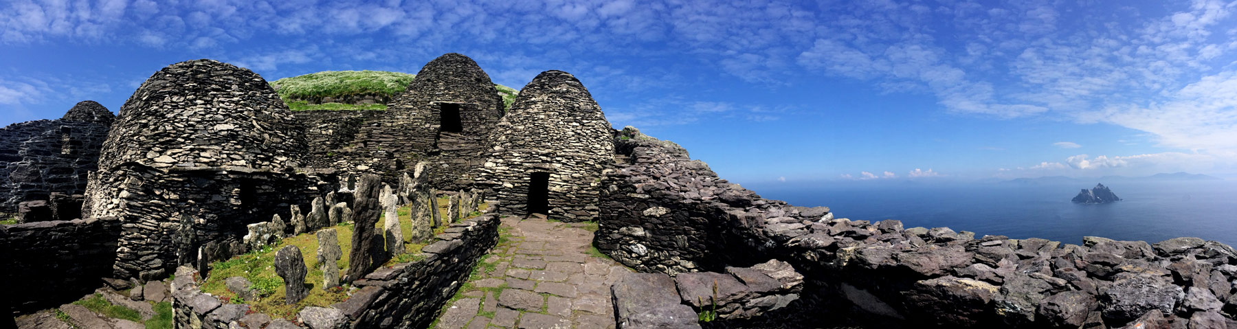 Beehive huts and small Skellig