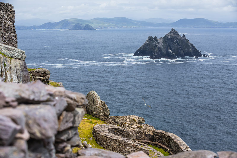 Little Skellig from Skellig Michael monastery