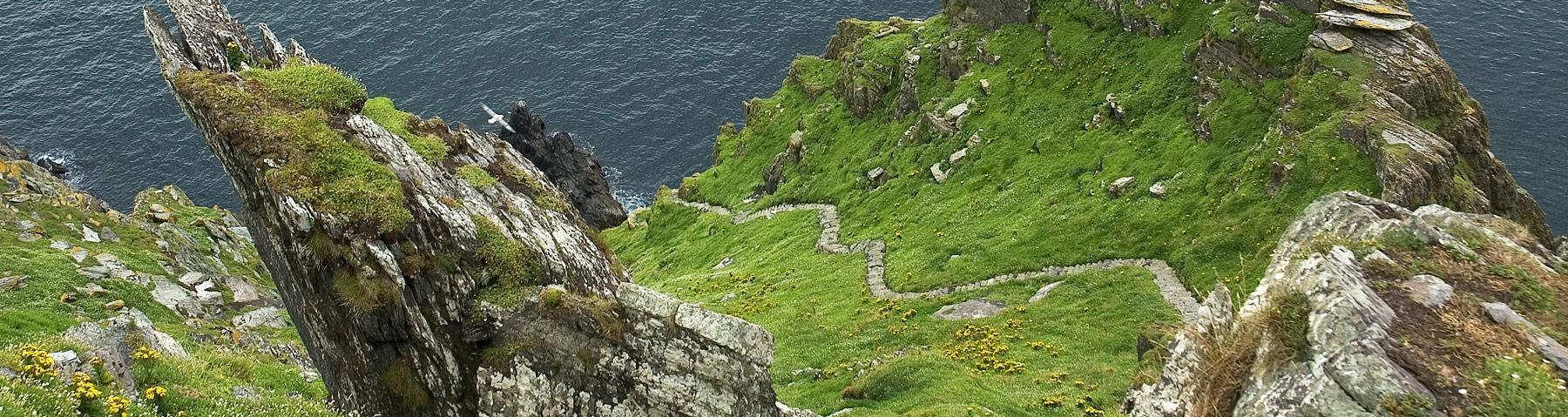 Steps on Great Skellig